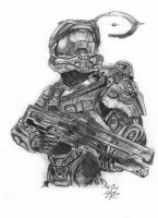 Master Chief Halo by kiringan
