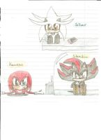 Baby Silver, Shadow and Knux by Shadowbeliver