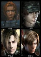 Leon Kennedy Evolution :D by AmeliaKader