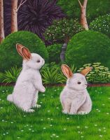 Easter Bunnies by IreneShpak