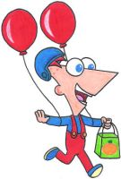 Phineas as the Balloon Fighter by nintendomaximus