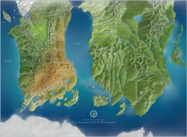 Belgariad and Malloreon Map by Crooty