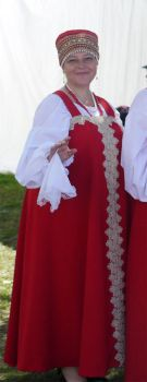 Russian folklore authentic female costume by lovebiser