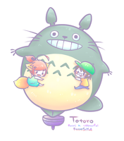 [ Foxmi Style ] Totoro Foxmi and Cddmanful by Foxmi