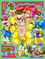 Bowser and his babies :3 by Bowser2Queen