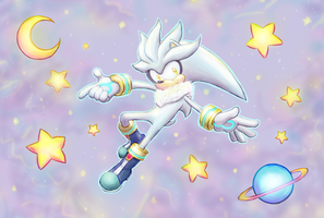 Silver the Hegehog by beansbigtop