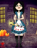 Halloween '13: Gwen Alice In Wonderland by TheEdMinistrator765