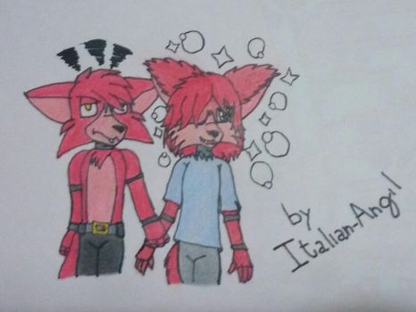 Foxy and Rossa's Children by Italian-Angil