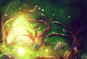 Fantasy Forest Speed Paint by rogueXunited