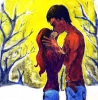 Jacob and Bella kiss - Eclipse by Veronik1982
