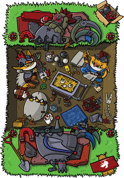 0571: Techies' Chicken Bunker by Agito666