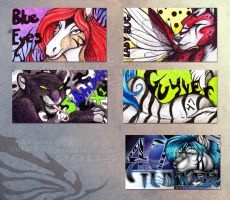 Anthrocon 2004 badges (first time) by guyver47