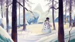 Snowman Christmas Greeting Card by dominuself