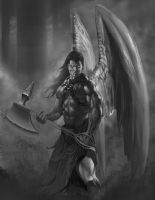 Fallen Angel WIP 3 by JonathanGragg