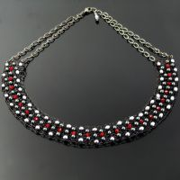 Goth wire knit collar by CatsWire