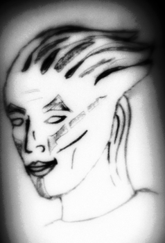 Baseline Drawing Attempt at an Asari by LogicalPremise