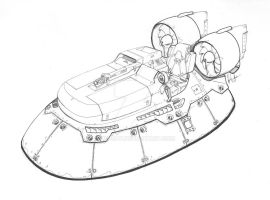 Commissioned Hovercraft by Jepray