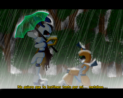 rokusho x metabee .:rainy day in 22:. by son-dow09