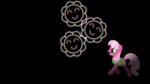 Cheerilee Glowing Cutie Mark Wallpaper 16:9 by alexram1313
