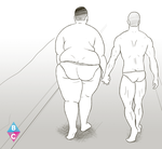 CHUB AND CHASER - romantic walk on the beach by butterchuk