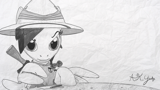 Pen, Pencil, and Pith Helmet by Seriff-Pilcrow