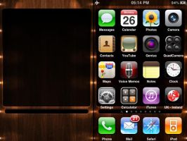 iPhone Wallpaper Wood Box LEDs by leeislee
