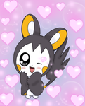 Emolga use attraction by jirachicute28