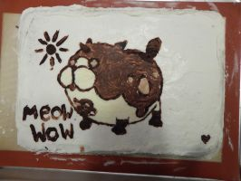 Meow Wow birthday cake! by silverserpentgorgon