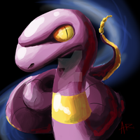 Weird Ekans Sketch of Weirdness by ComicMasterX