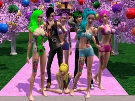 BOTDF- Candyland: Sims3 music video by Blueturbin