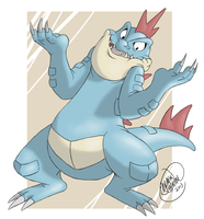 POKEDDEX DAY 31: Feraligatr by SharpDressedReptile