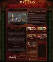 Diablo 3 site by Agresidy