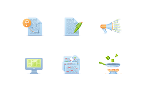 Icons for Copywriting Agency by AnnaLitvinuk