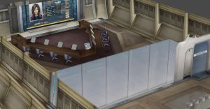 FF7  SHINRA CONFERENCE ROOM by Oo-FiL-oO