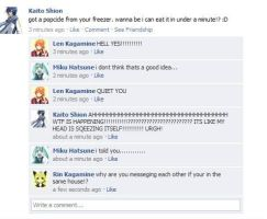 Vocaloid Facebook:Brain Freeze by NessSophie