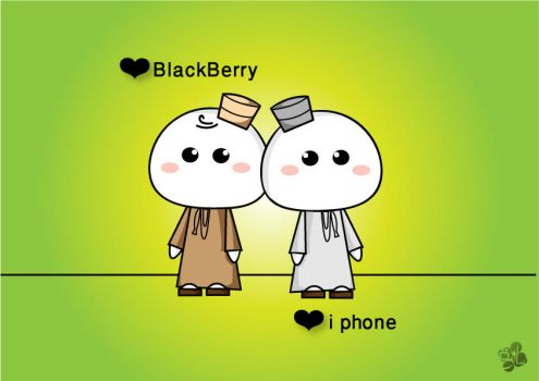 BB and i phone lovers by SaraALMukhaini
