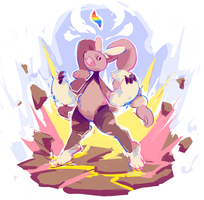 mega lopunny by Andcetera