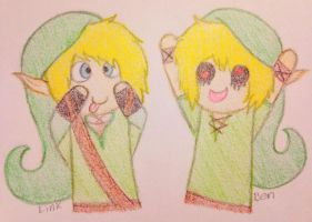 Link and Ben by heatheronline101