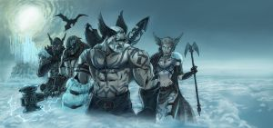 Norse Gods, wall painting by AlanStain