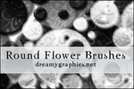 Photoshop Round Flower Brushes by inge123