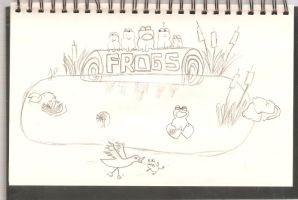 Frogs on a Log by NotoriousBunny