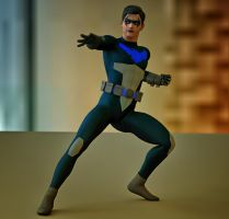 Nightwing Young Justice second skin textures x M4 by hiram67