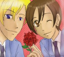 Ouran - TamaHaru by Azurith