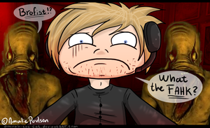 Stoneface of PewDiePie by Amirah-the-cat
