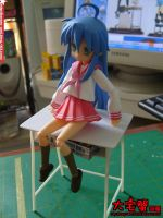 Izumi Konata and Desk DIY 3 by Bororo-Umi