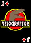 Jurassic Park Raptor Card by Spinky1