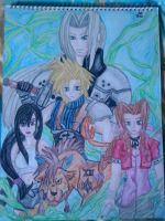FF 7 watercolour by lustyvampire