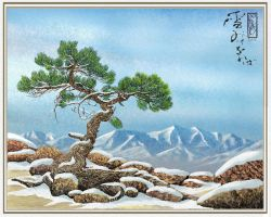 Woodblock Tree 2 by Brightstone