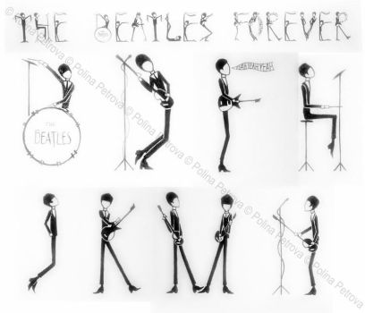 Beatles font by Paully