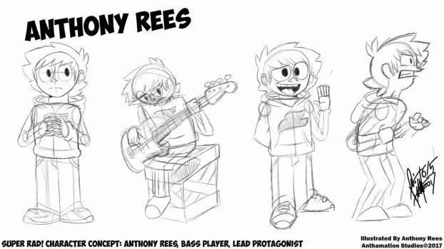 Super Rad! Character Concept: Anthony Rees! by Anthamation